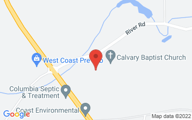 Map to Calvary Baptist Church in Chemainus, BC